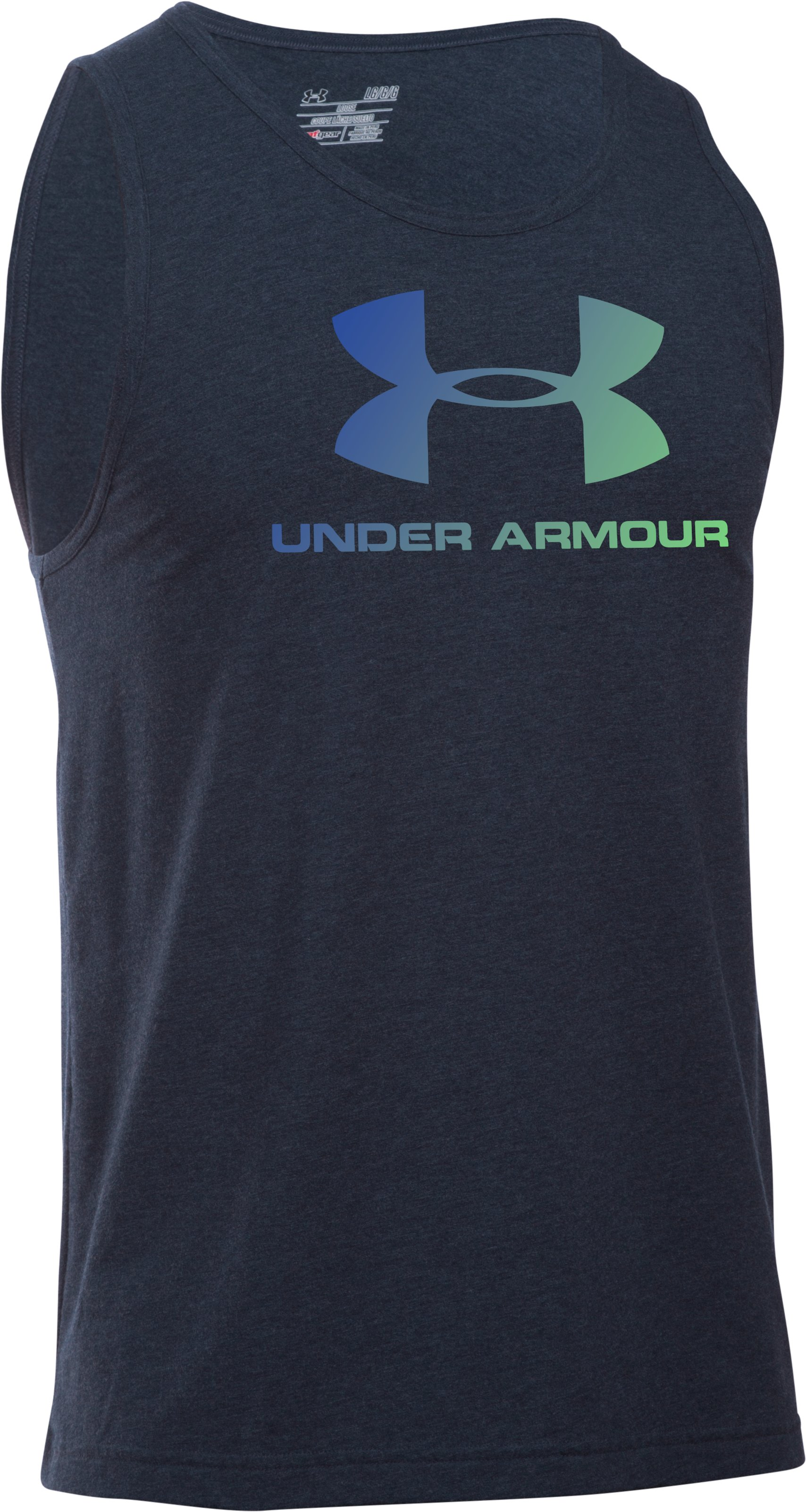 Men's UA Sportstyle Logo Tank, Midnight Navy, undefined