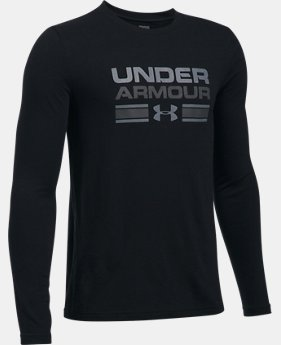 Boys' UA Crossbar Logo Long Sleeve T-Shirt  2 Colors $29.99