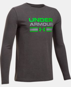 Boys' UA Crossbar Logo Long Sleeve T-Shirt  7 Colors $29.99