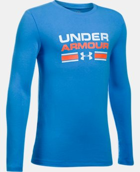 Boys' UA Crossbar Logo Long Sleeve T-Shirt  5 Colors $29.99