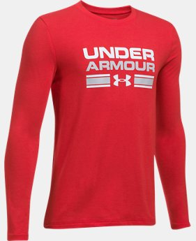Boys' UA Crossbar Logo Long Sleeve T-Shirt  1 Color $17.99 to $29.99