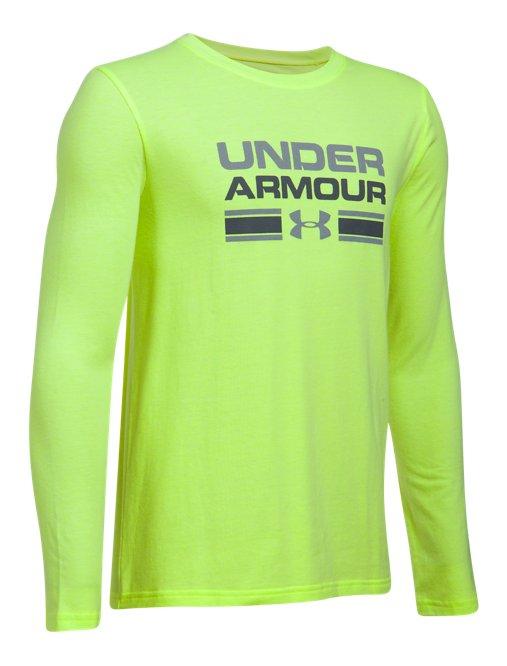 e1d9292b4 Under Armour Boys Crossbar Logo Long Sleeve T-Shirt Under Armour Apparel  1299797 Boys