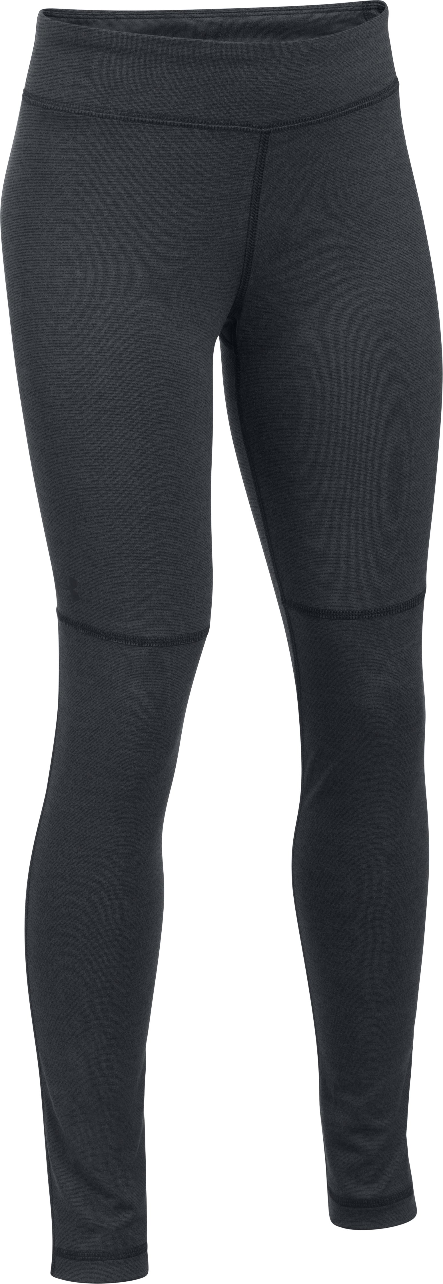 Girls' UA Elevated Training Plush Leggings, Black