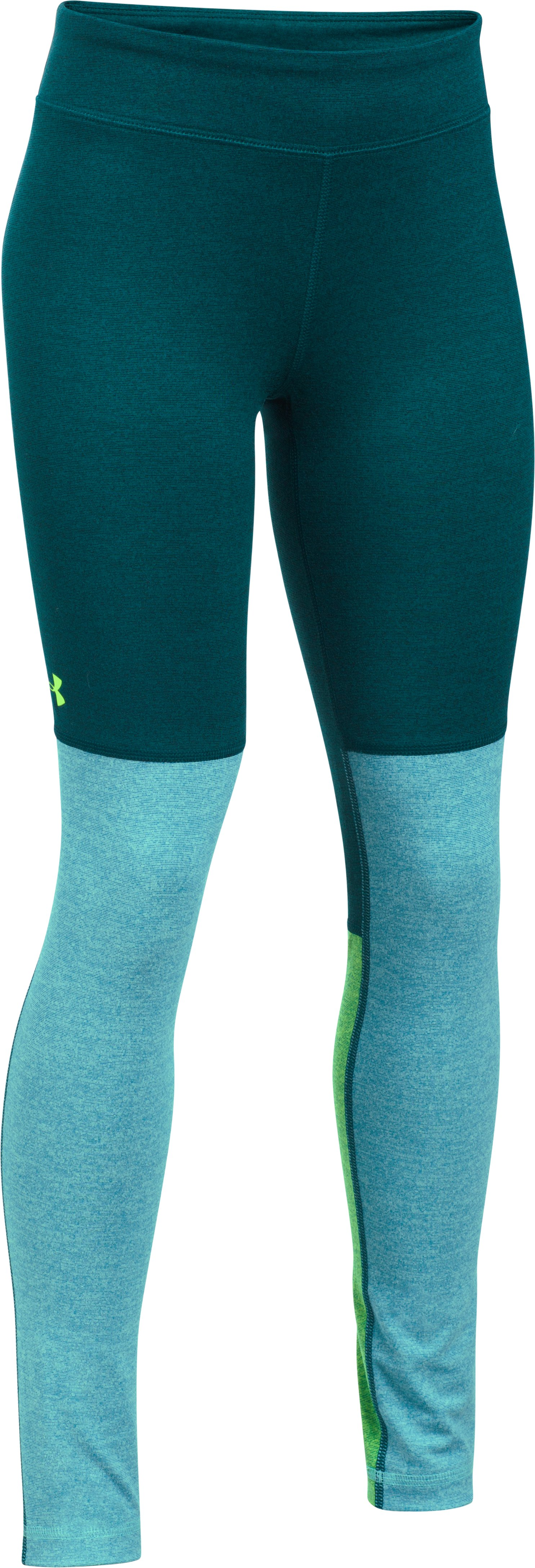 Girls' UA Studio Leggings, ARDEN GREEN, zoomed image