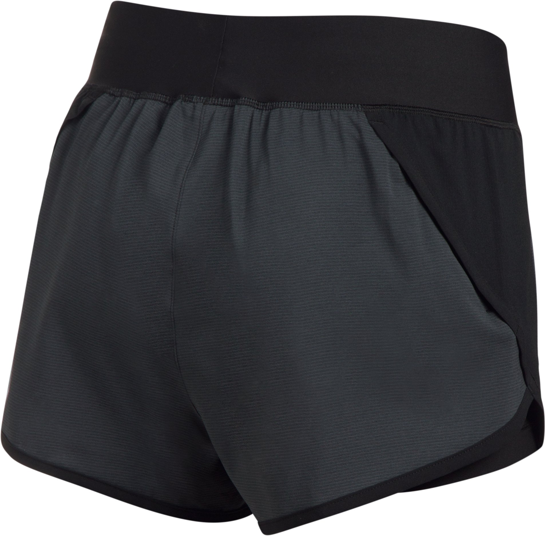 Women's UA Launch Tulip 2-in-1 Shorts, Black , undefined