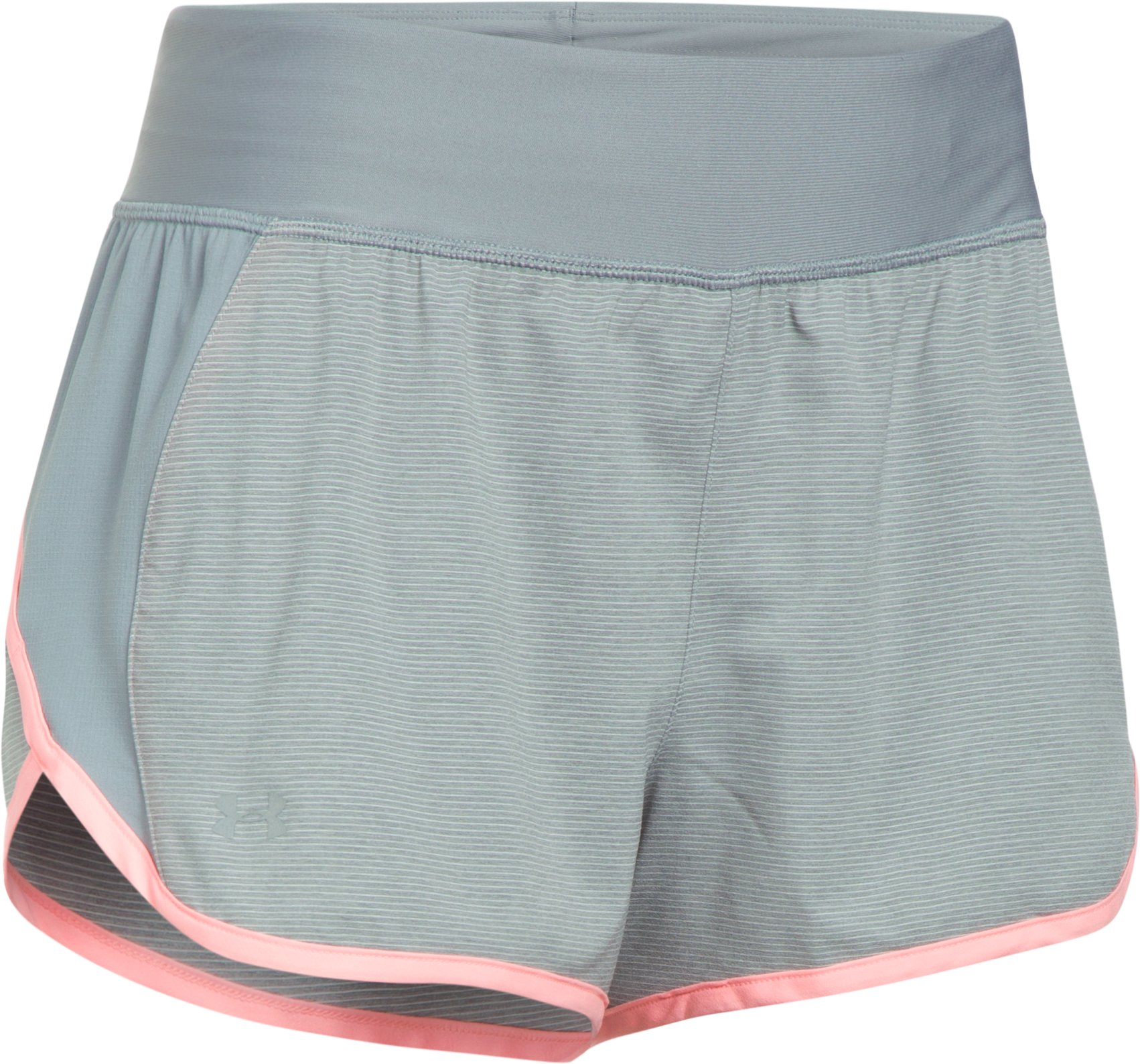 Women's UA Launch Tulip 2-in-1 Shorts, True Gray Heather,