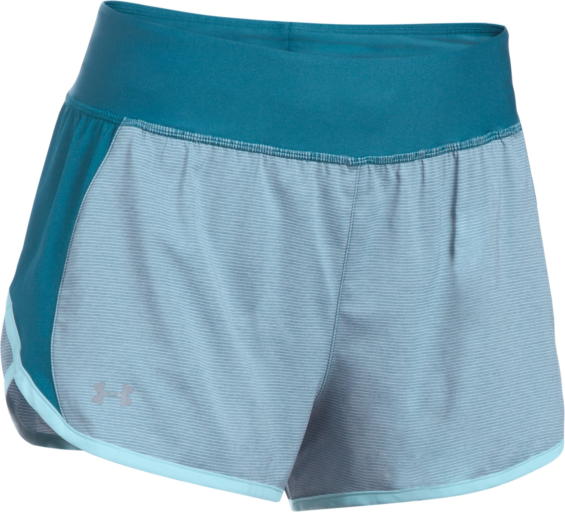 Women's UA Launch Tulip 2-in-1 Shorts, BAYOU BLUE, undefined