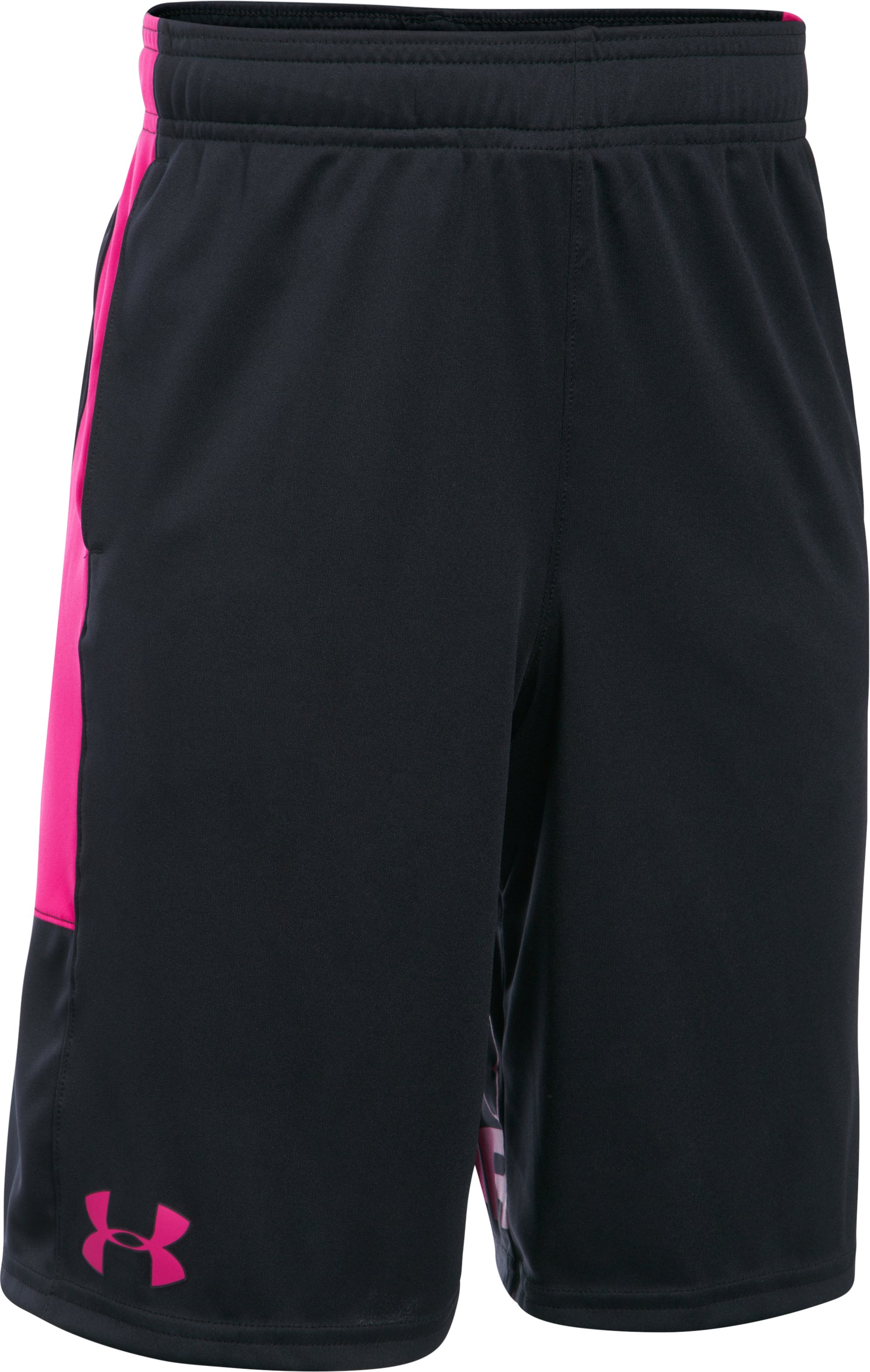 Boys' UA Stunt Shorts, Black , undefined