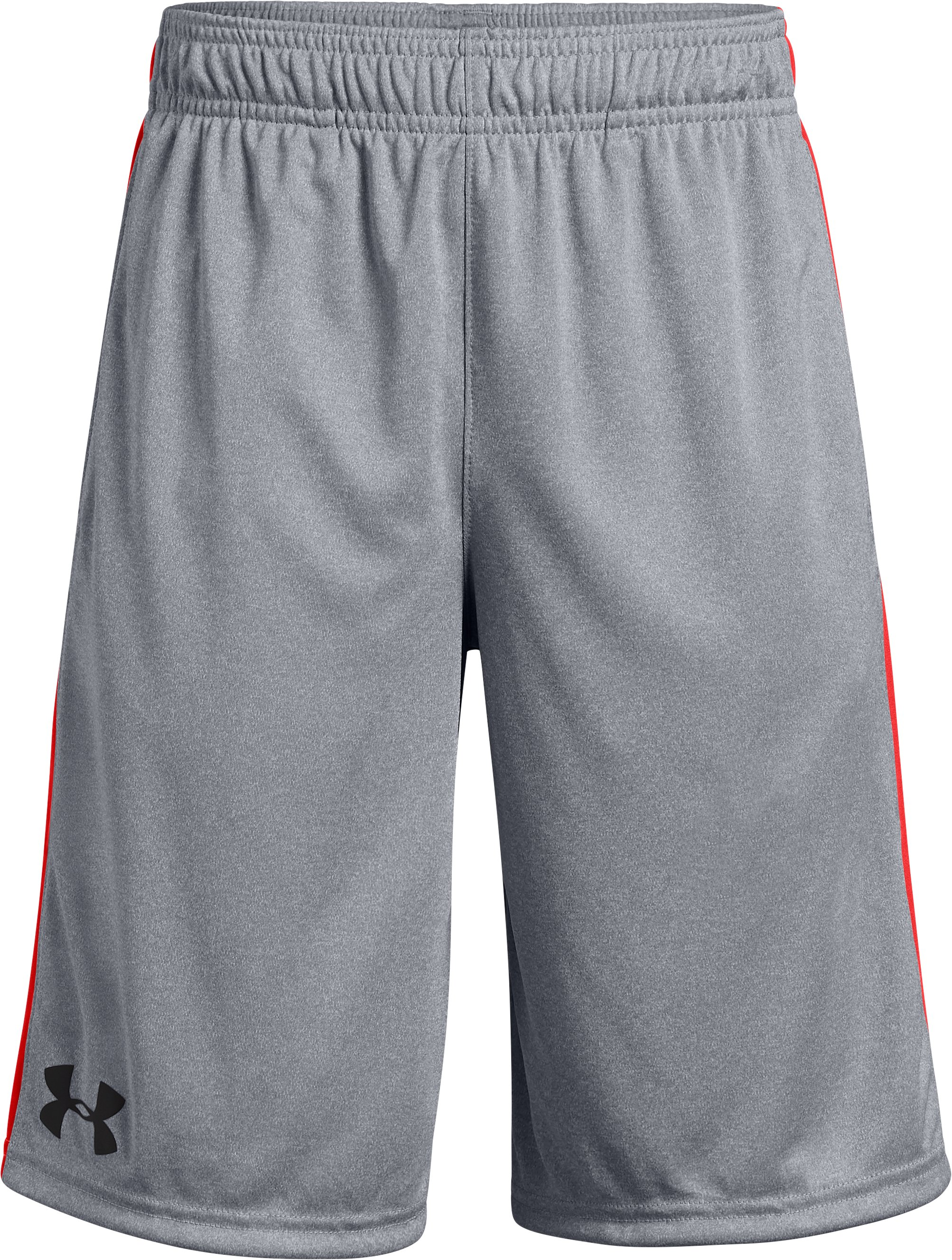 Boys' UA Stunt Shorts, STEEL LIGHT HEATHER