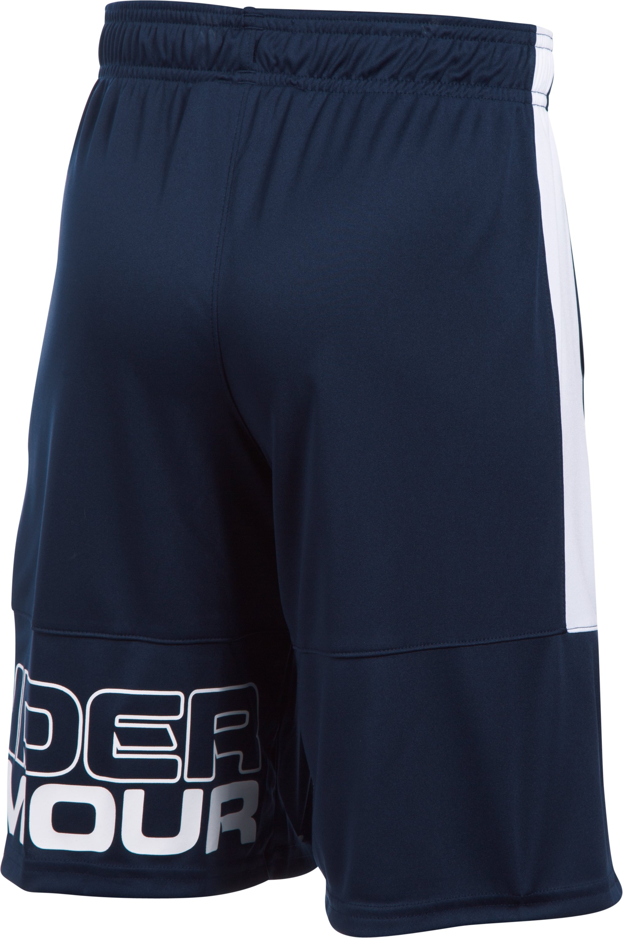 Boys' UA Stunt Shorts, Midnight Navy
