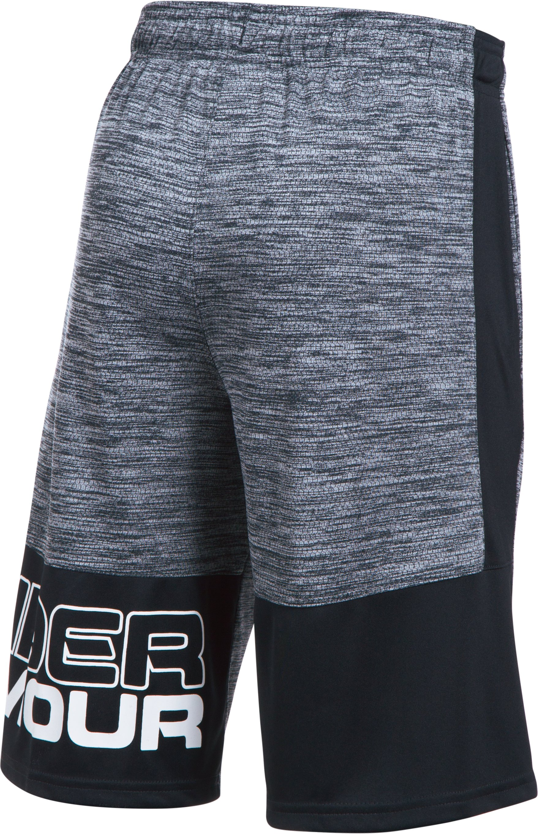 Boys' UA Stunt Printed Shorts, Black , undefined