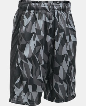 New to Outlet Boys' UA Stunt Printed Shorts  2  Colors Available $18 to $22.5
