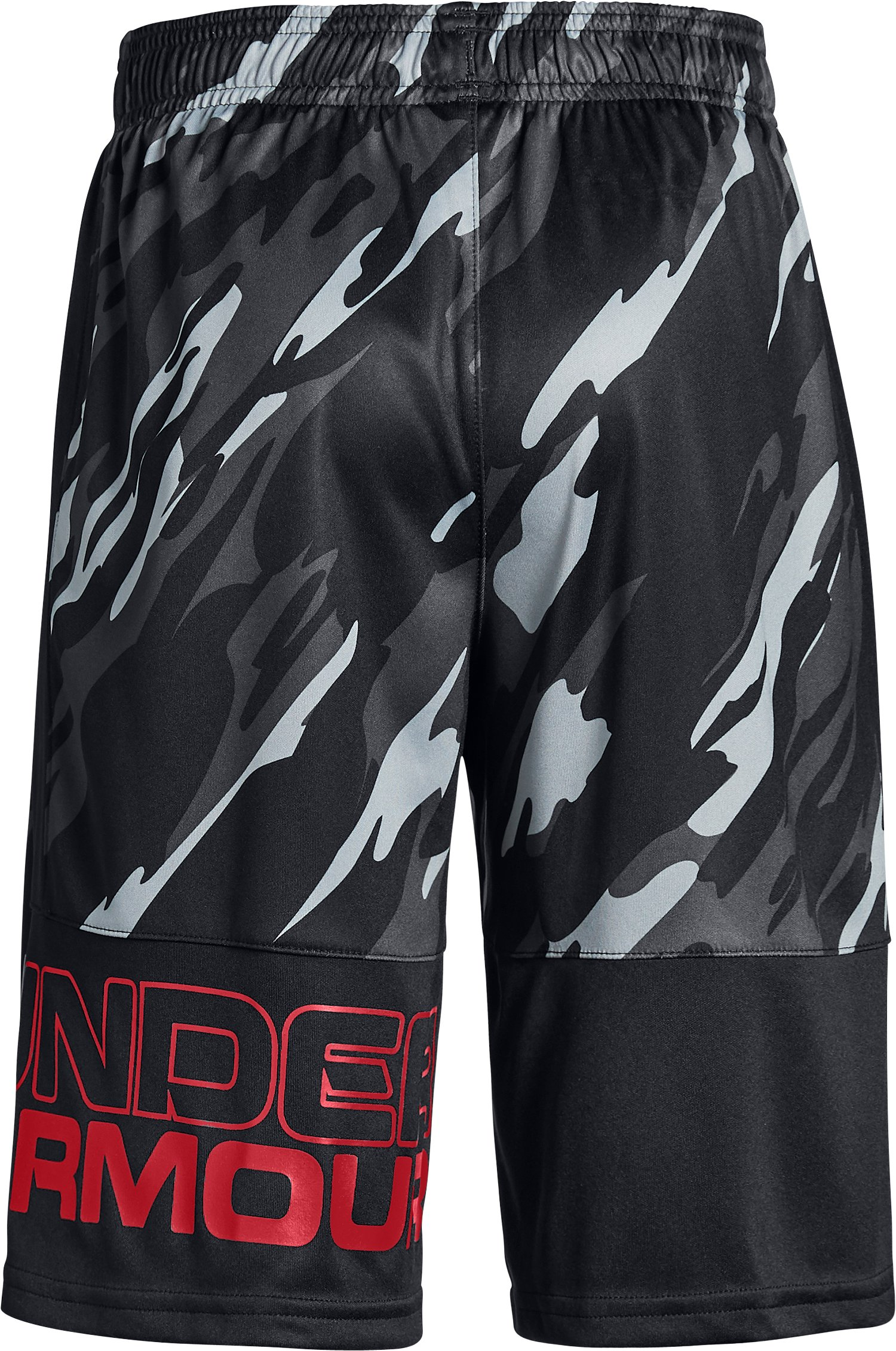 Boys' UA Stunt Printed Shorts, Black ,