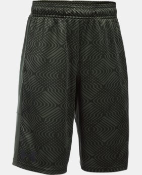 Best Seller  Boys' UA Stunt Printed Shorts  1 Color $32.99