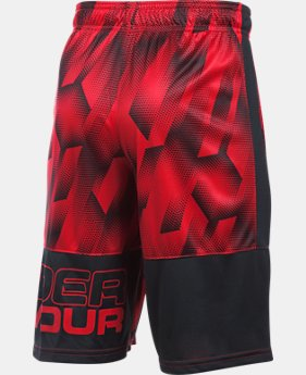 New Arrival Boys' UA Instinct Printed Shorts  1 Color $27.99