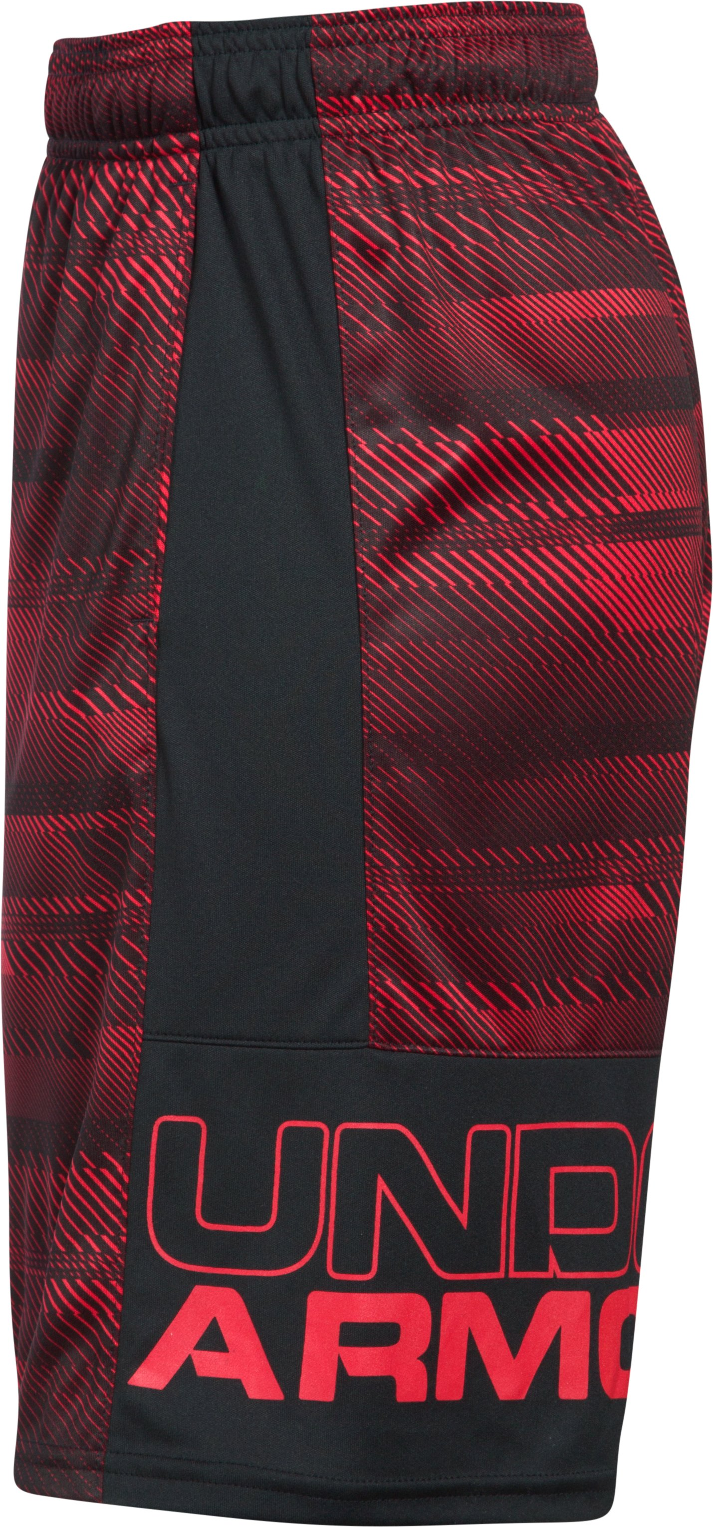 Boys' UA Stunt Printed Shorts, Red