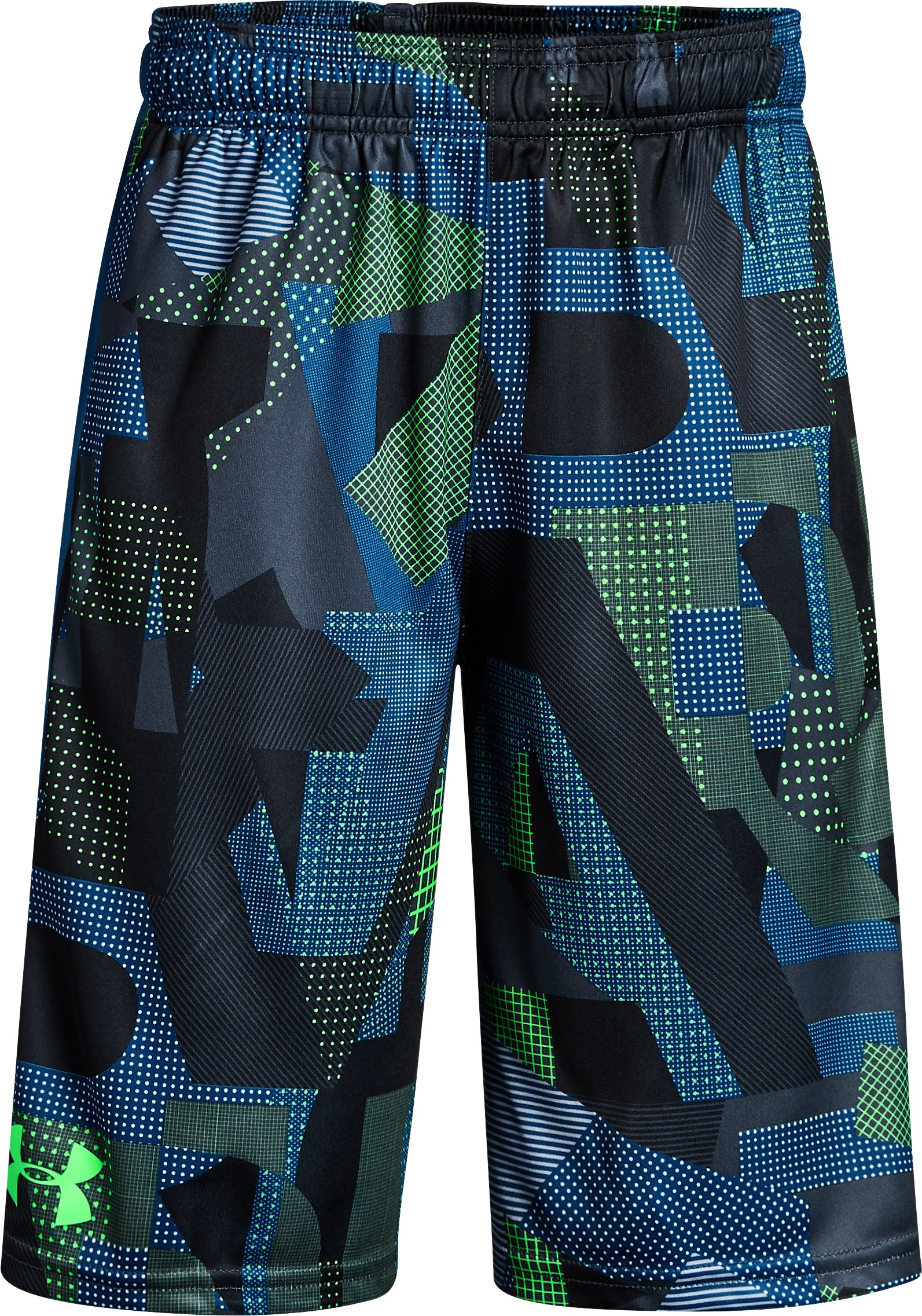 Boys' UA Stunt Printed Shorts, ARENA GREEN