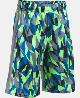 Best Seller Boys' UA Stunt Printed Shorts  3 Colors $21 to $27.99