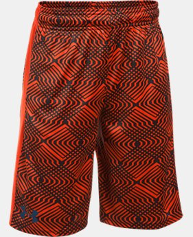 Best Seller Boys' UA Stunt Printed Shorts  2 Colors $27.99