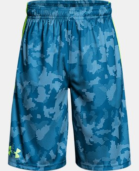 Best Seller  Boys' UA Stunt Printed Shorts  9  Colors $24.74 to $24.99
