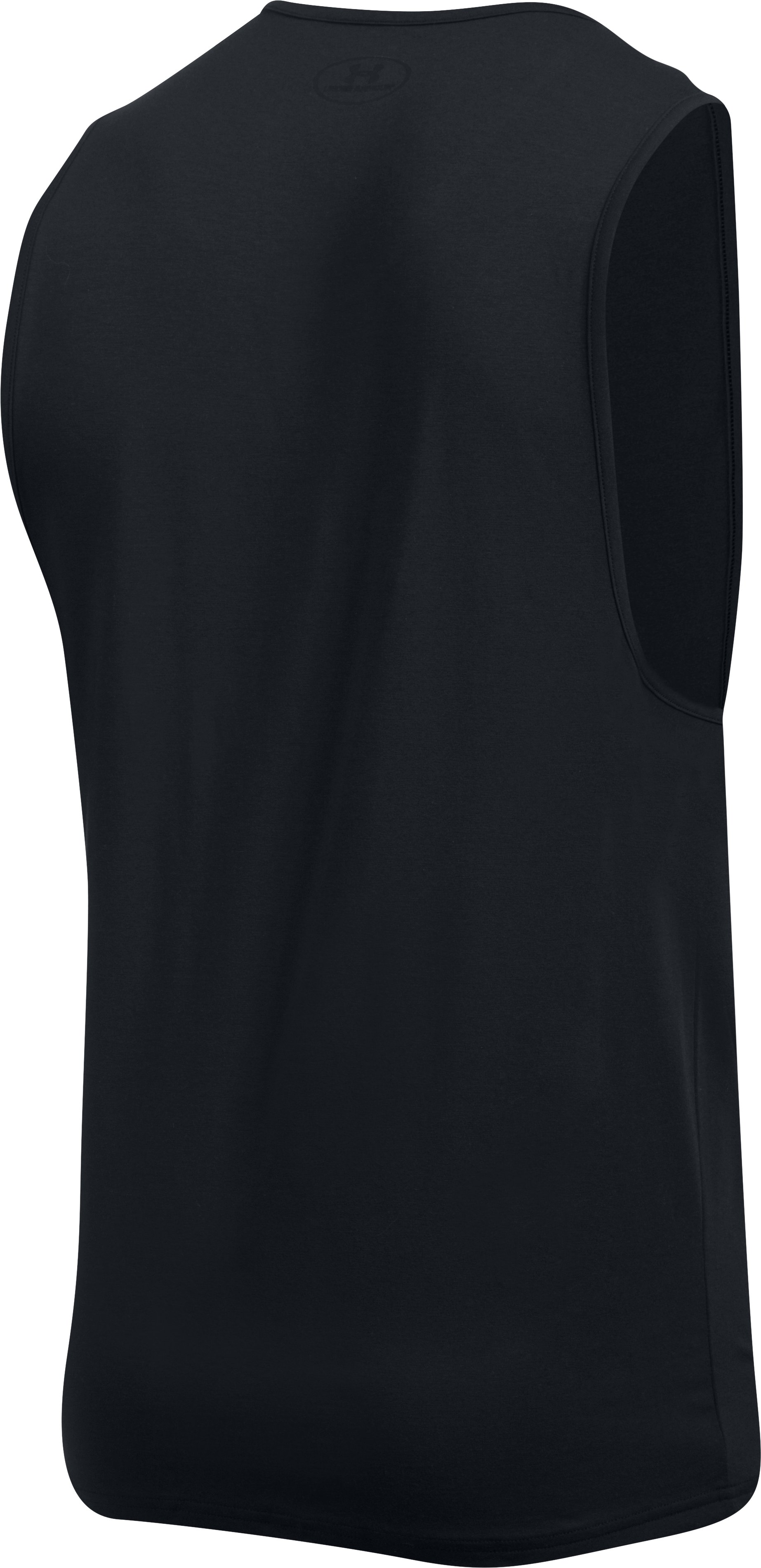 Men's Charged Cotton® Tank Undershirt – 2-Pack, Black ,