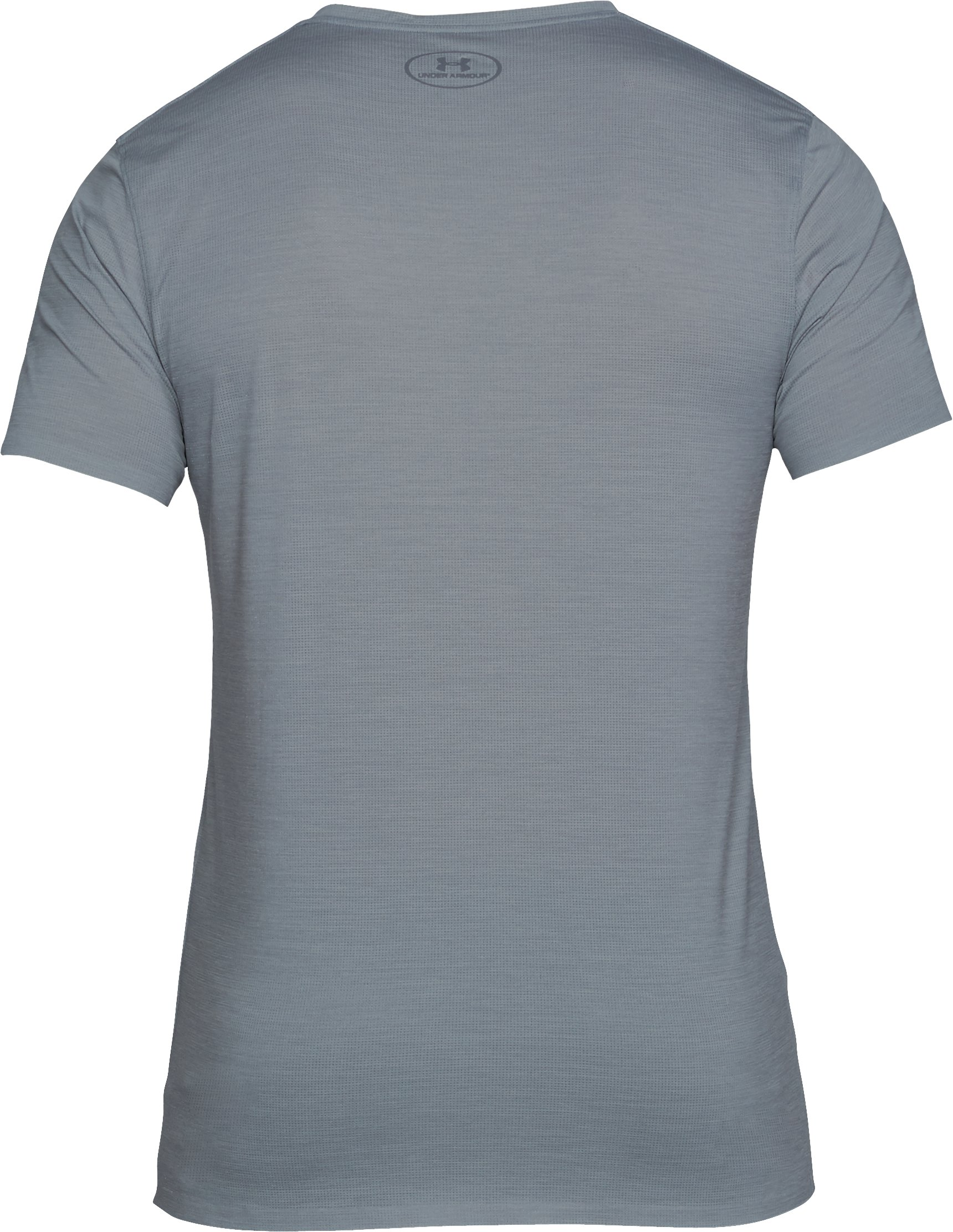 Men's ArmourVent® Mesh Series V-Neck Undershirt, STEEL LIGHT HEATHER, undefined