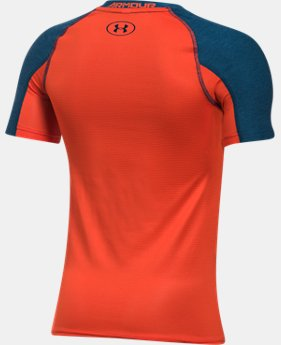Boys' HeatGear® Armour Patterned Short Sleeve Shirt  1 Color $13.49 to $17.99