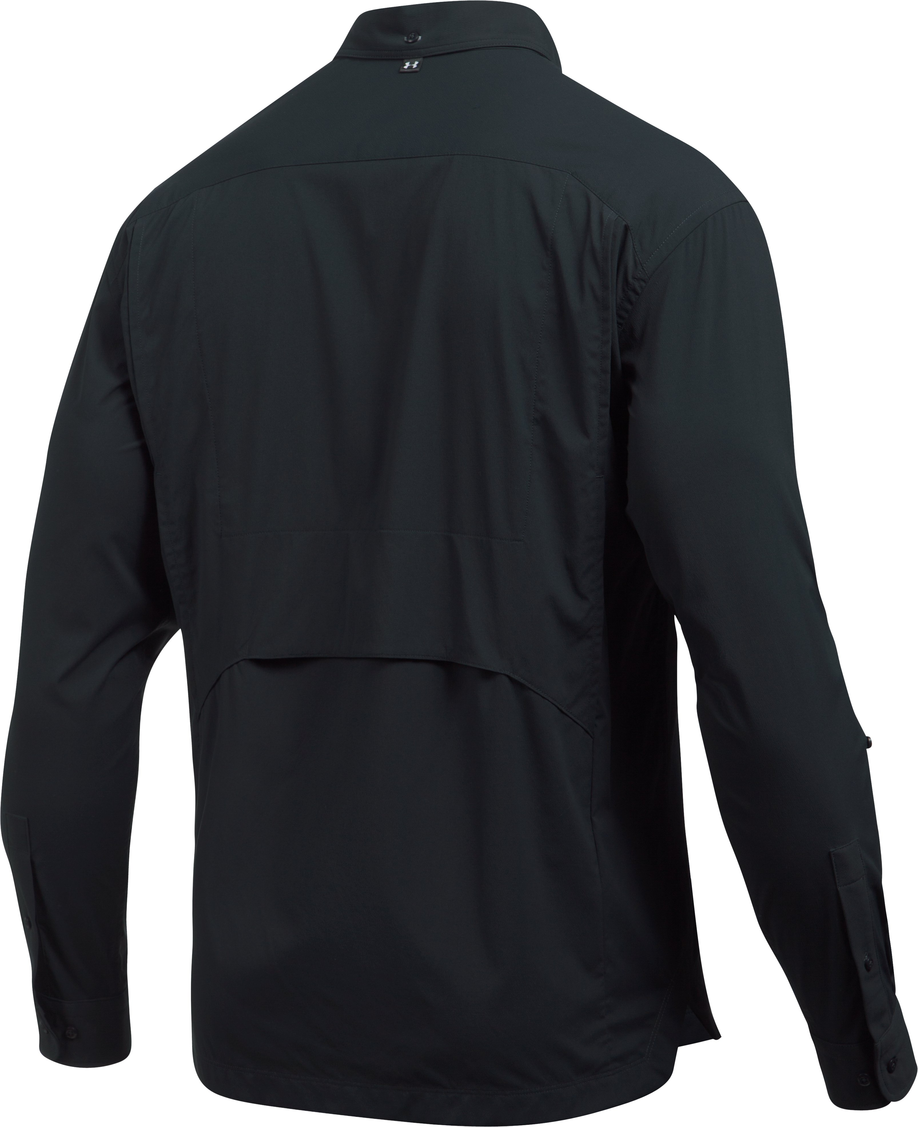 Men's UA Fish Hunter Solid Long Sleeve, ANTHRACITE