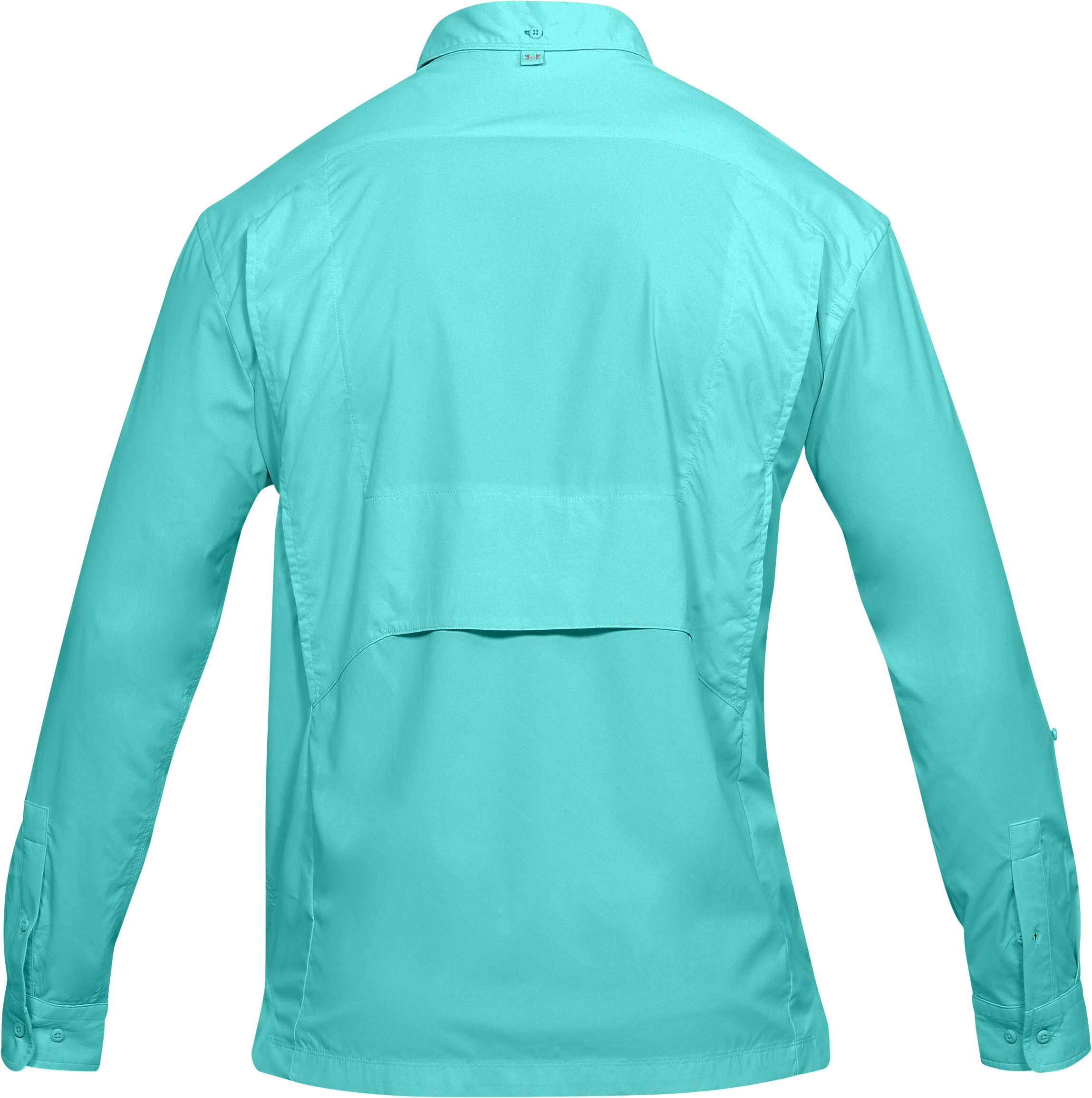 Men's UA Fish Hunter Solid Long Sleeve, TROPICAL TIDE, undefined