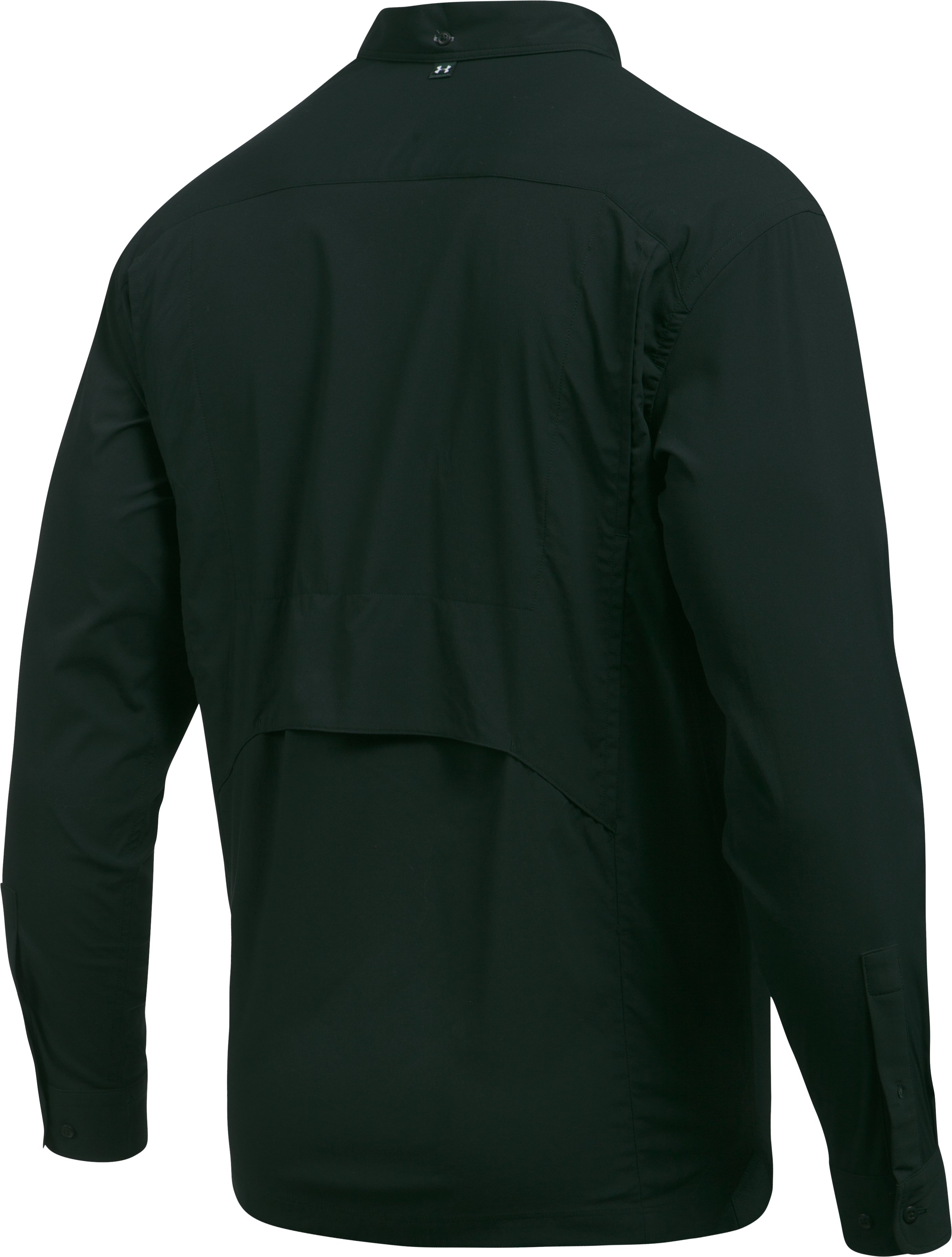 Men's UA Fish Hunter Solid Long Sleeve, NORDIC GREEN,