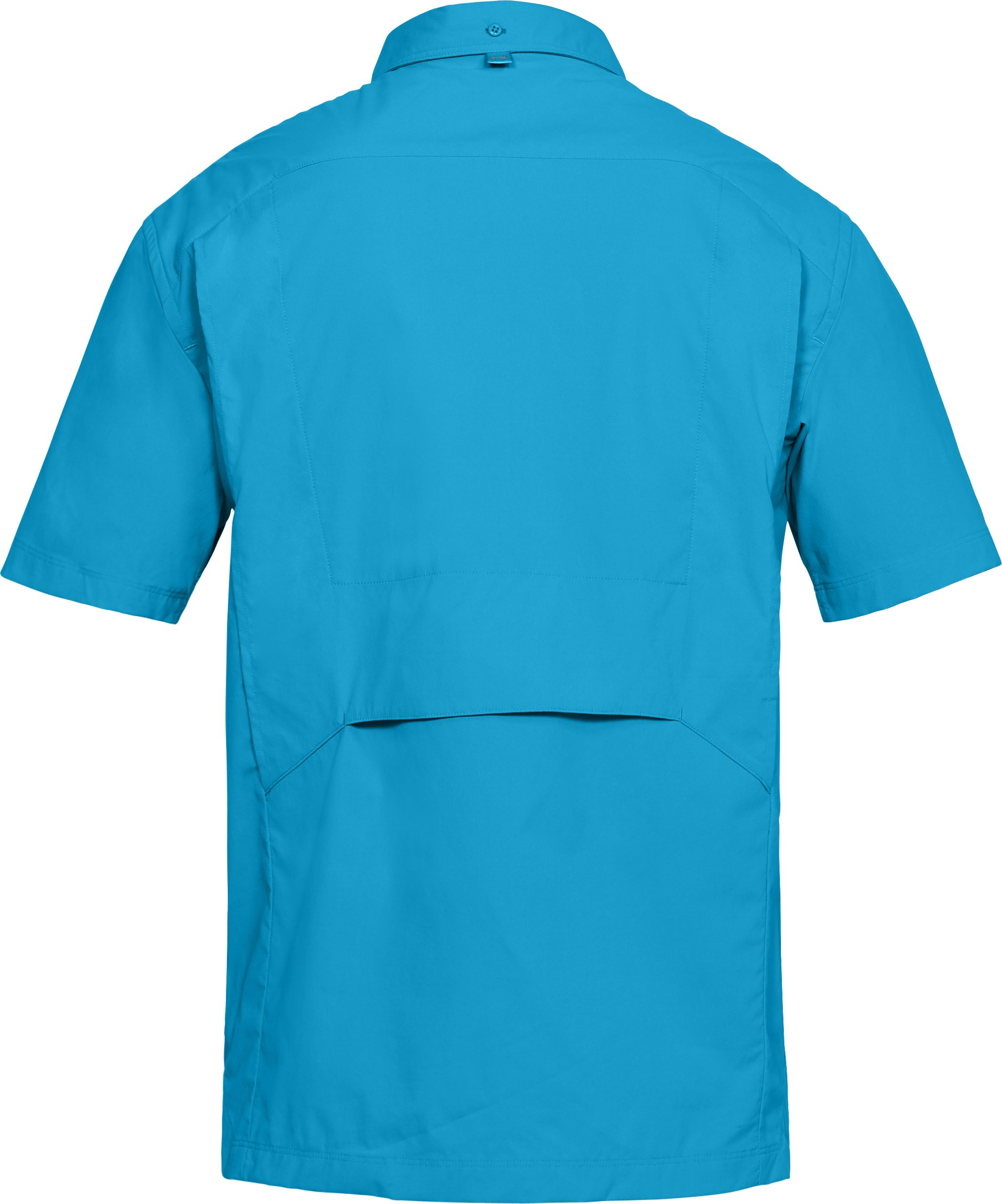 Men's UA Fish Hunter Solid Short Sleeve, CANOE BLUE,