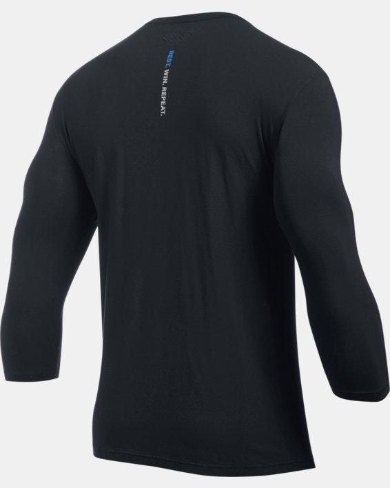 Men's UA RECOVER™ Ultra Comfort Sleepwear Henley, Black, pdpMainDesktop image number 7