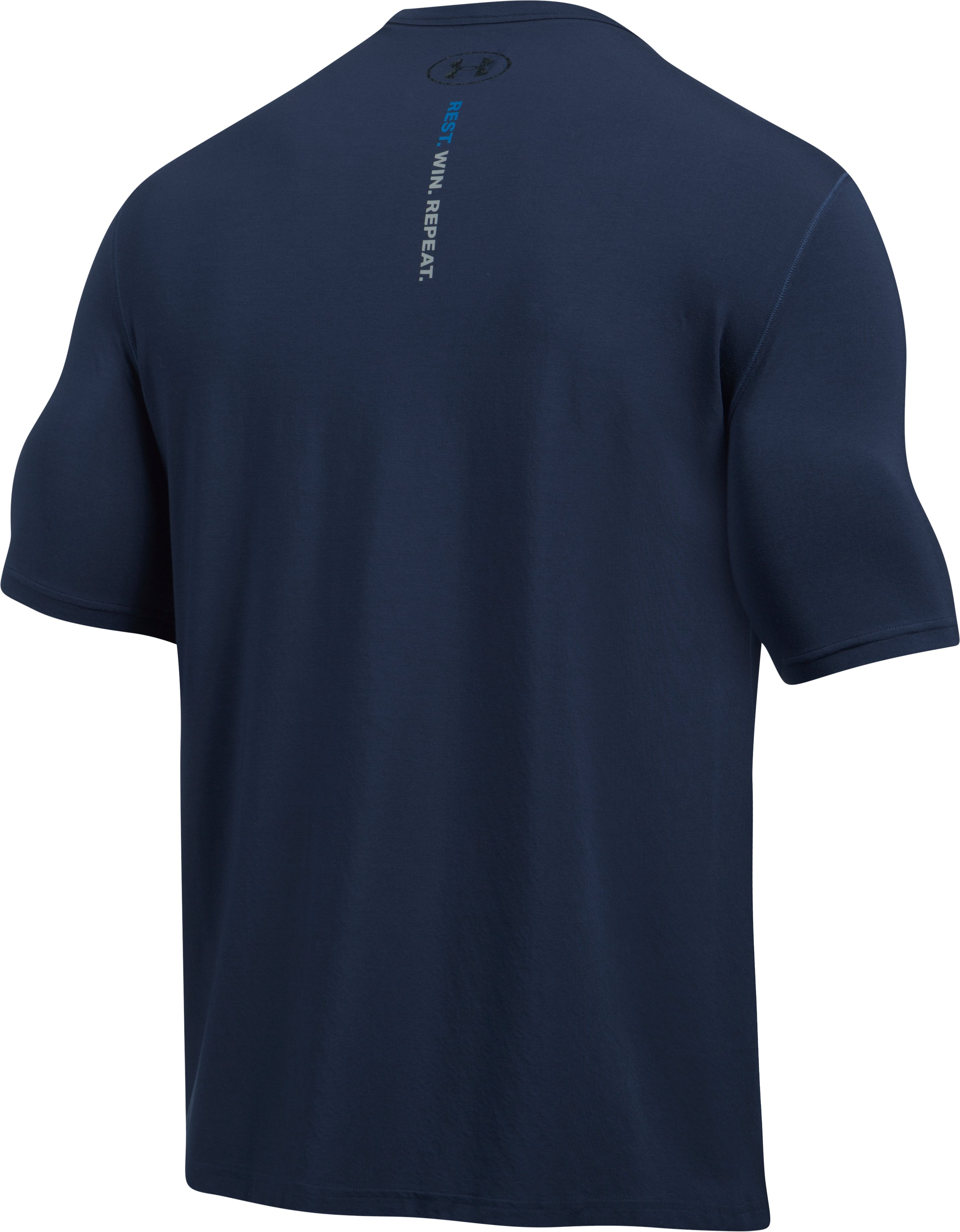Men's Athlete Recovery Elite Sleepwear Short Sleeve, Midnight Navy, undefined