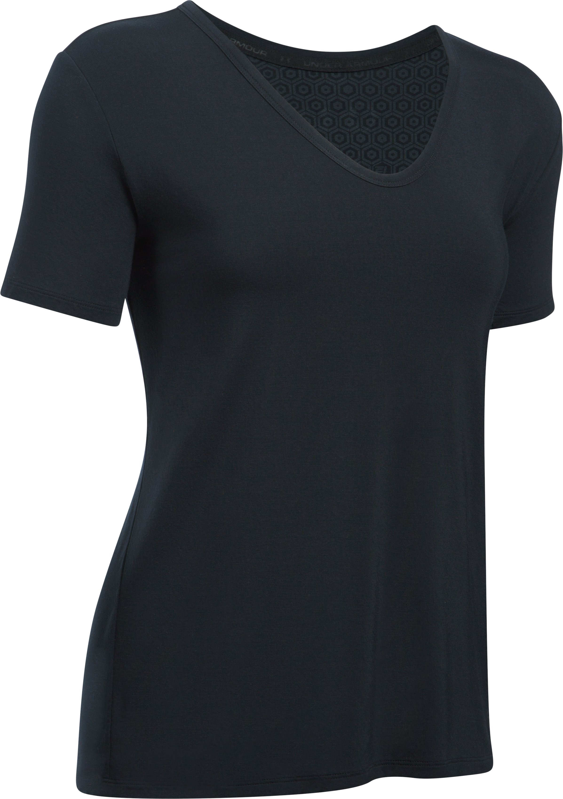 Women's Athlete Recovery Ultra Comfort Sleepwear Short Sleeve, Black ,