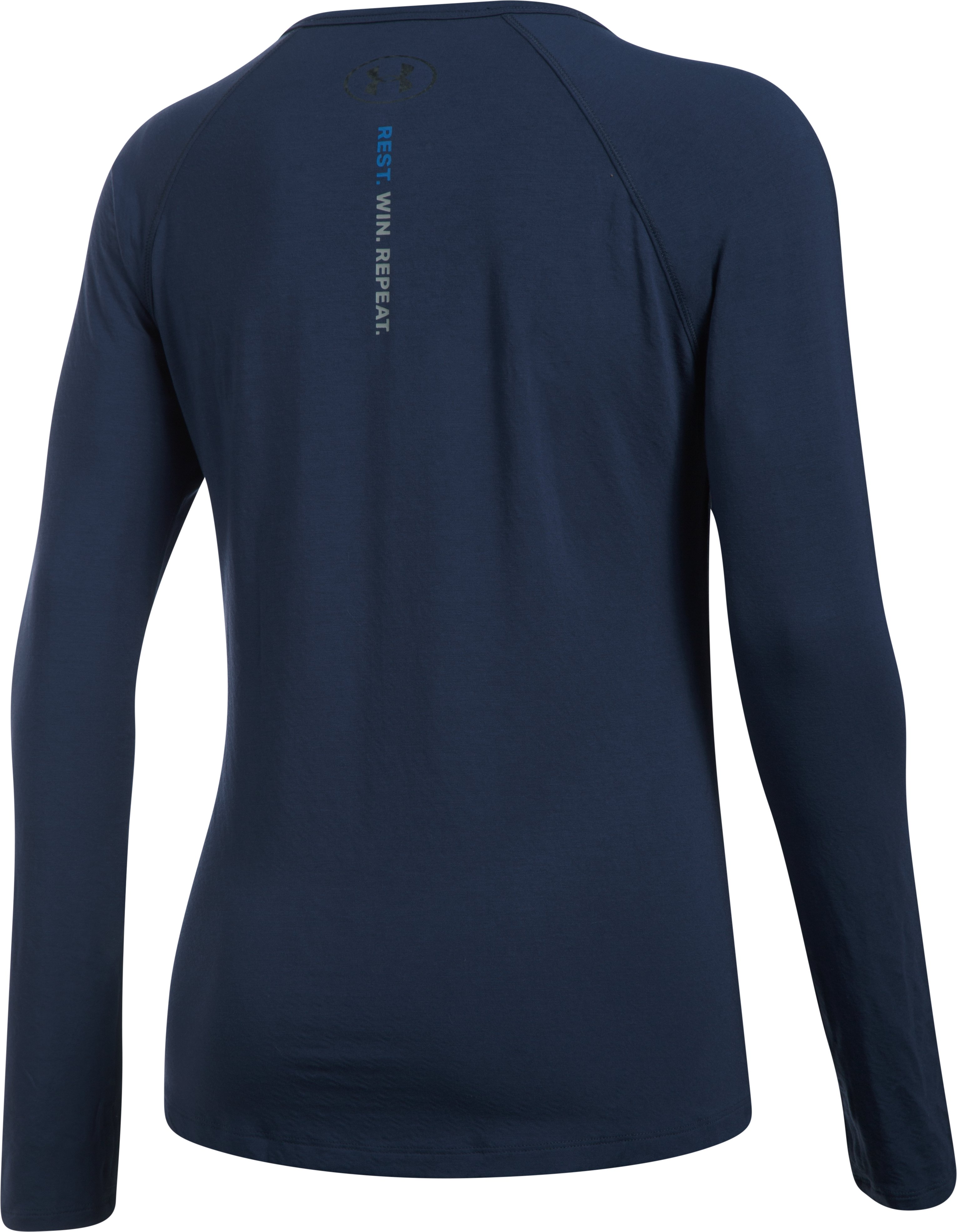 Women's Athlete Recovery Ultra Comfort Sleepwear Henley, Midnight Navy, undefined