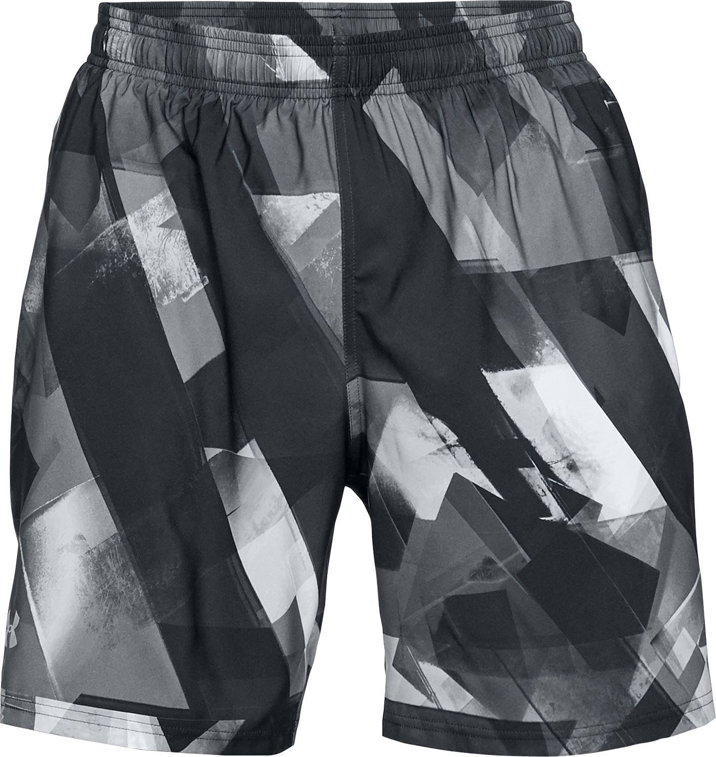 Men's UA Launch SW Printed 7'' Shorts, ANTHRACITE, undefined