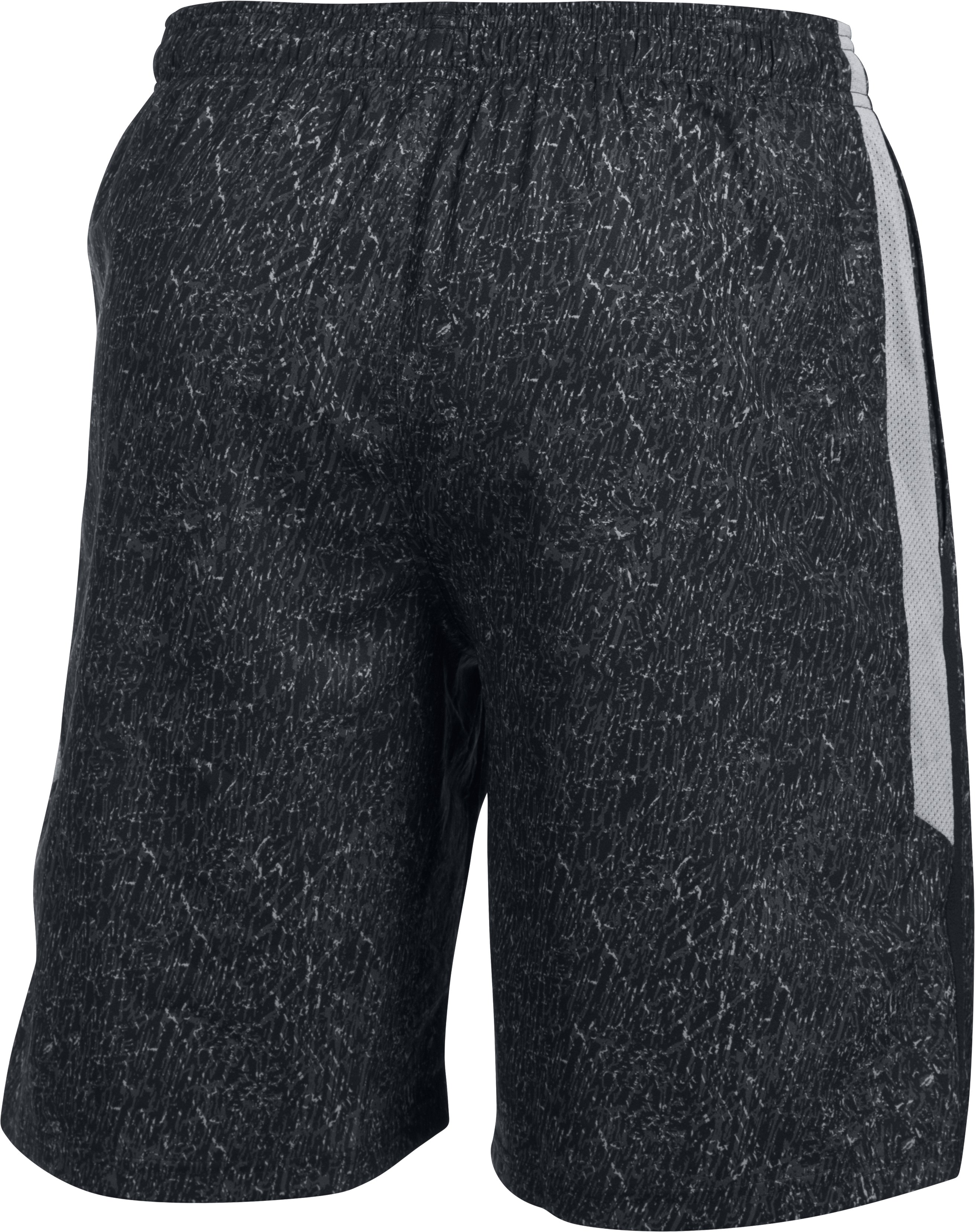 Men's UA Launch SW Printed 9'' Shorts, Black , undefined
