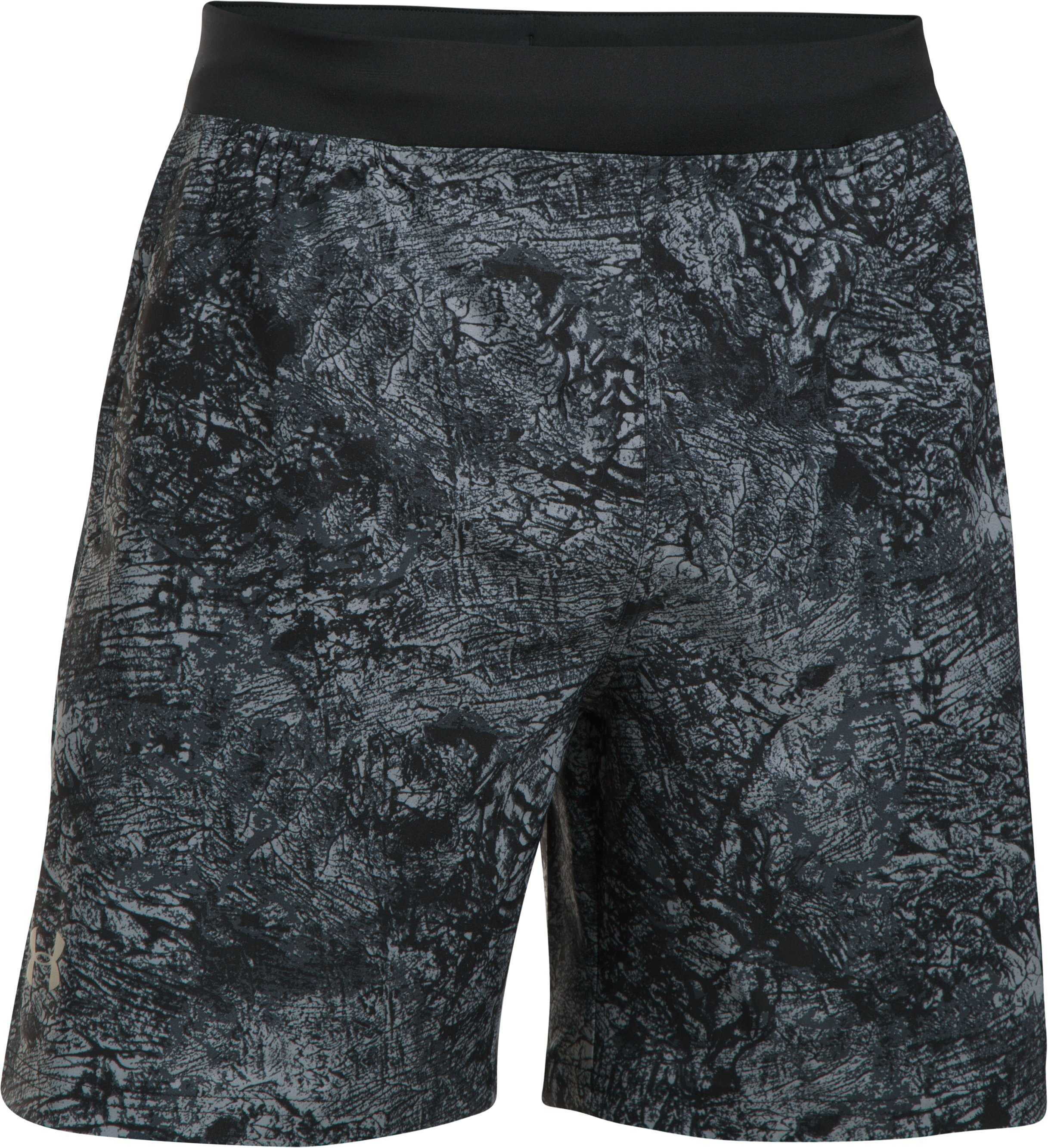 "Men's UA Speedpocket Printed 7"" Shorts, Steel, undefined"