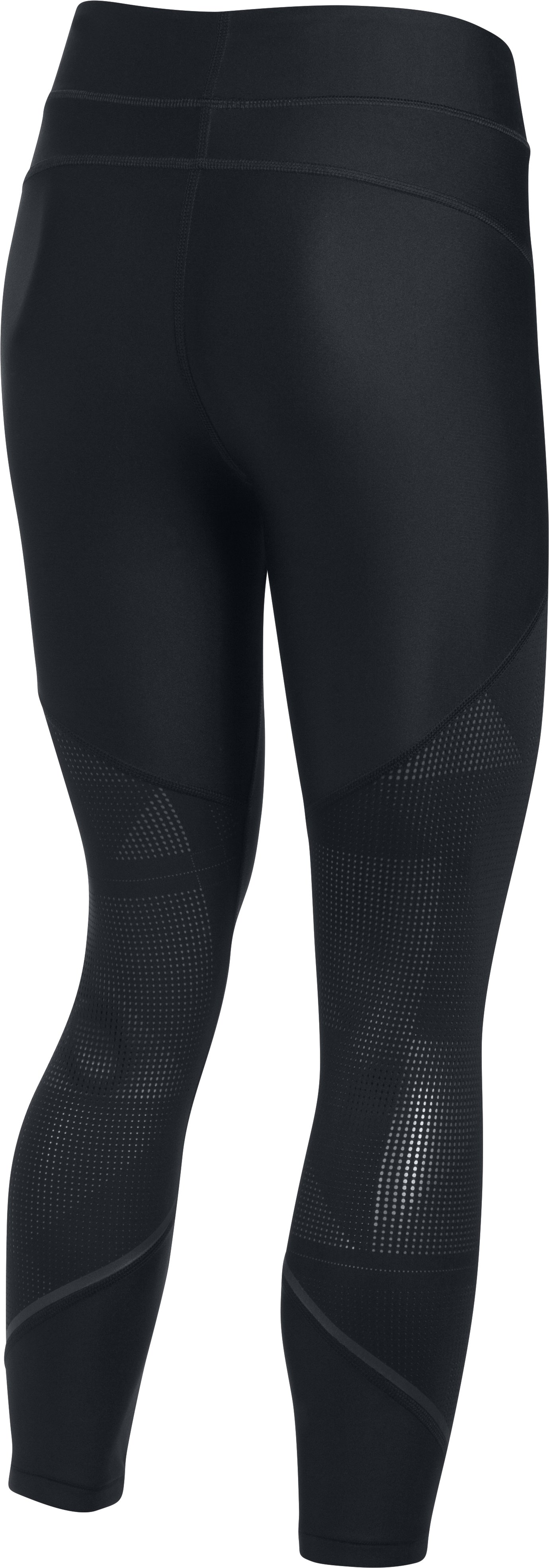 Women's HeatGear® Armour Supervent Crop, Black ,