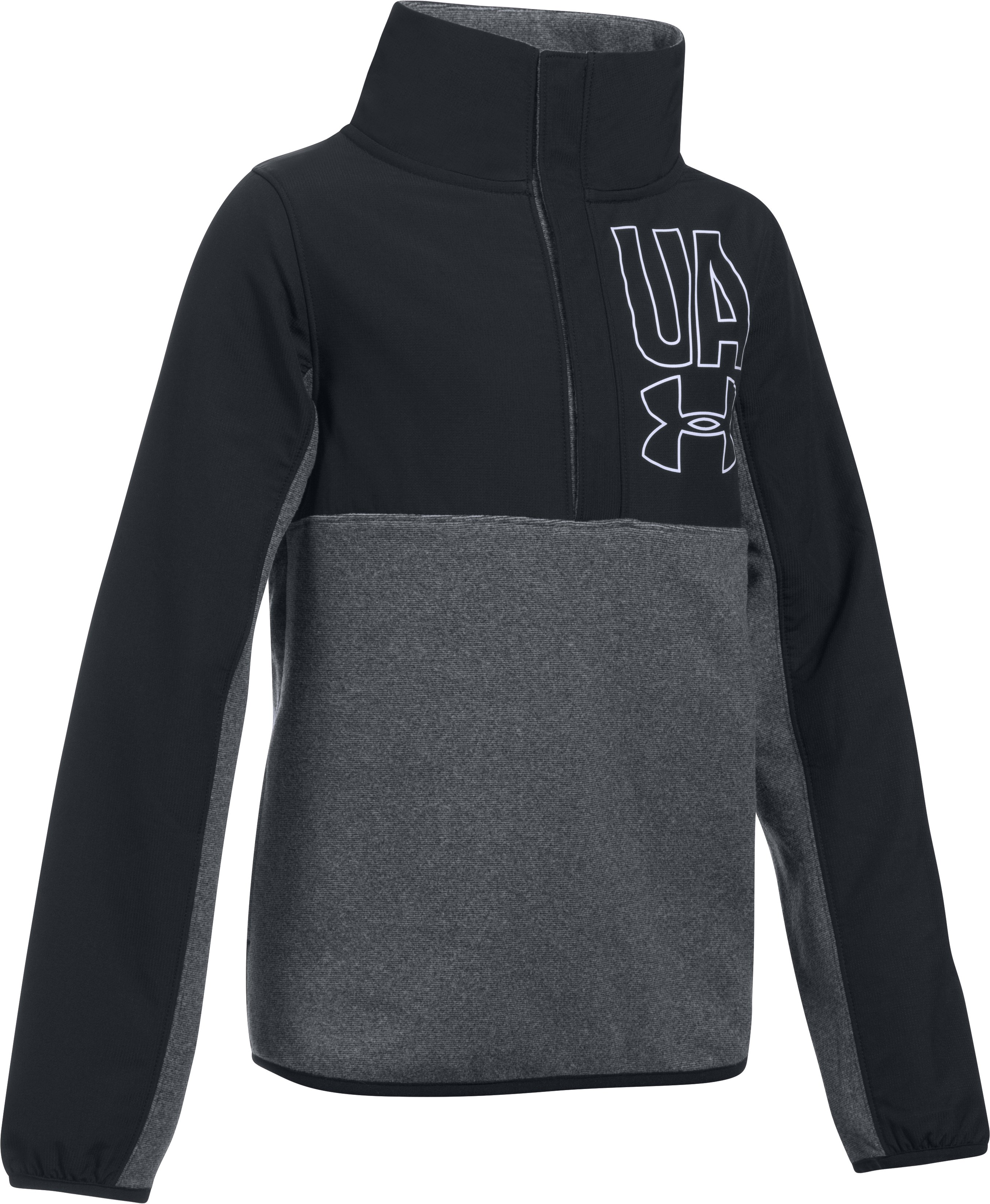 Girls' UA Phenom Fleece ½ Snap, Black