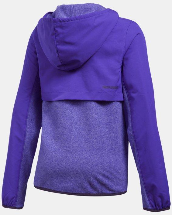Girls' UA Phenom Fleece Full Zip Hoodie, Purple, pdpMainDesktop image number 1