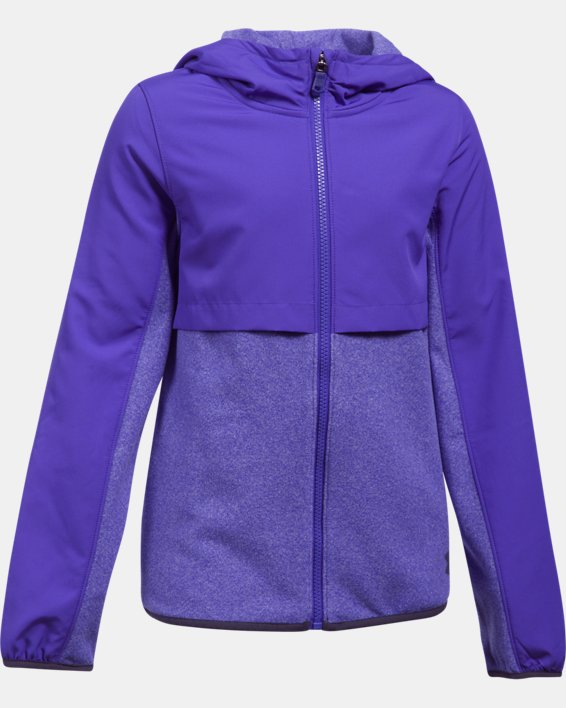 Girls' UA Phenom Fleece Full Zip Hoodie, Purple, pdpMainDesktop image number 0
