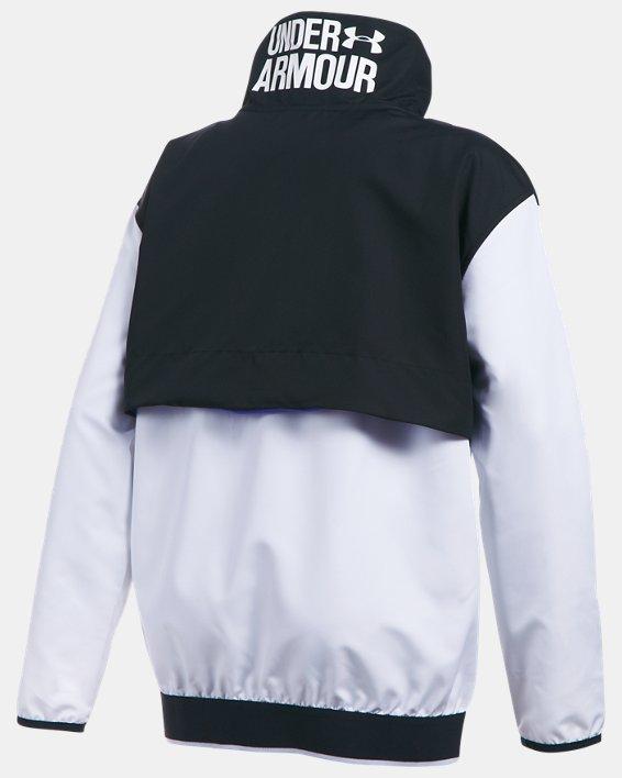 Girls' UA Train To Game Jacket, White, pdpMainDesktop image number 1