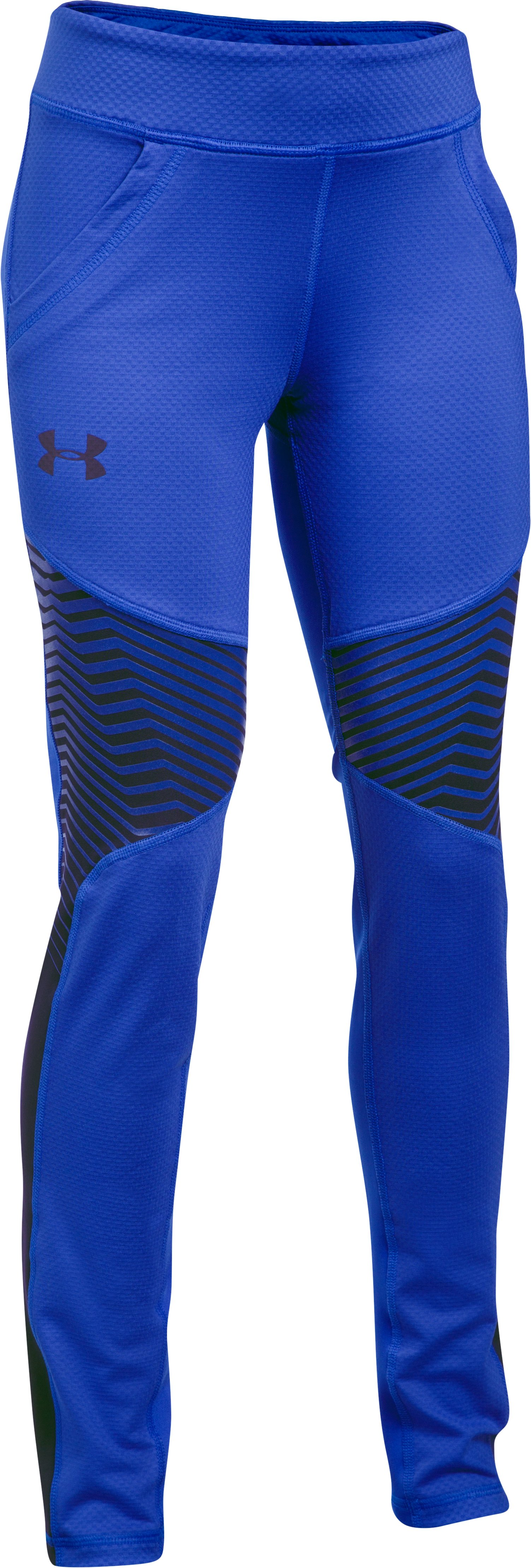Girls' ColdGear® Reactor Leggings, LAPIS BLUE,