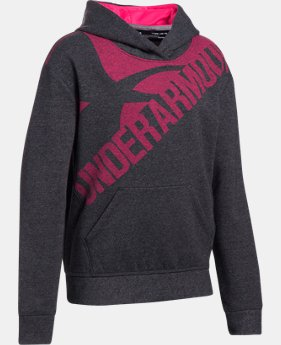 Girls' UA Threadborne™ Printed Fleece Hoodie  1 Color $26.99 to $33.74