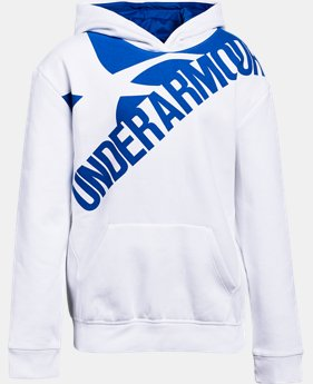 New to Outlet Girls' UA Threadborne™ Printed Fleece Hoodie  1  Color Available $26.99 to $33.99