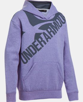 Girls' UA Threadborne™ Printed Fleece Hoodie LIMITED TIME OFFER 8 Colors $31.49
