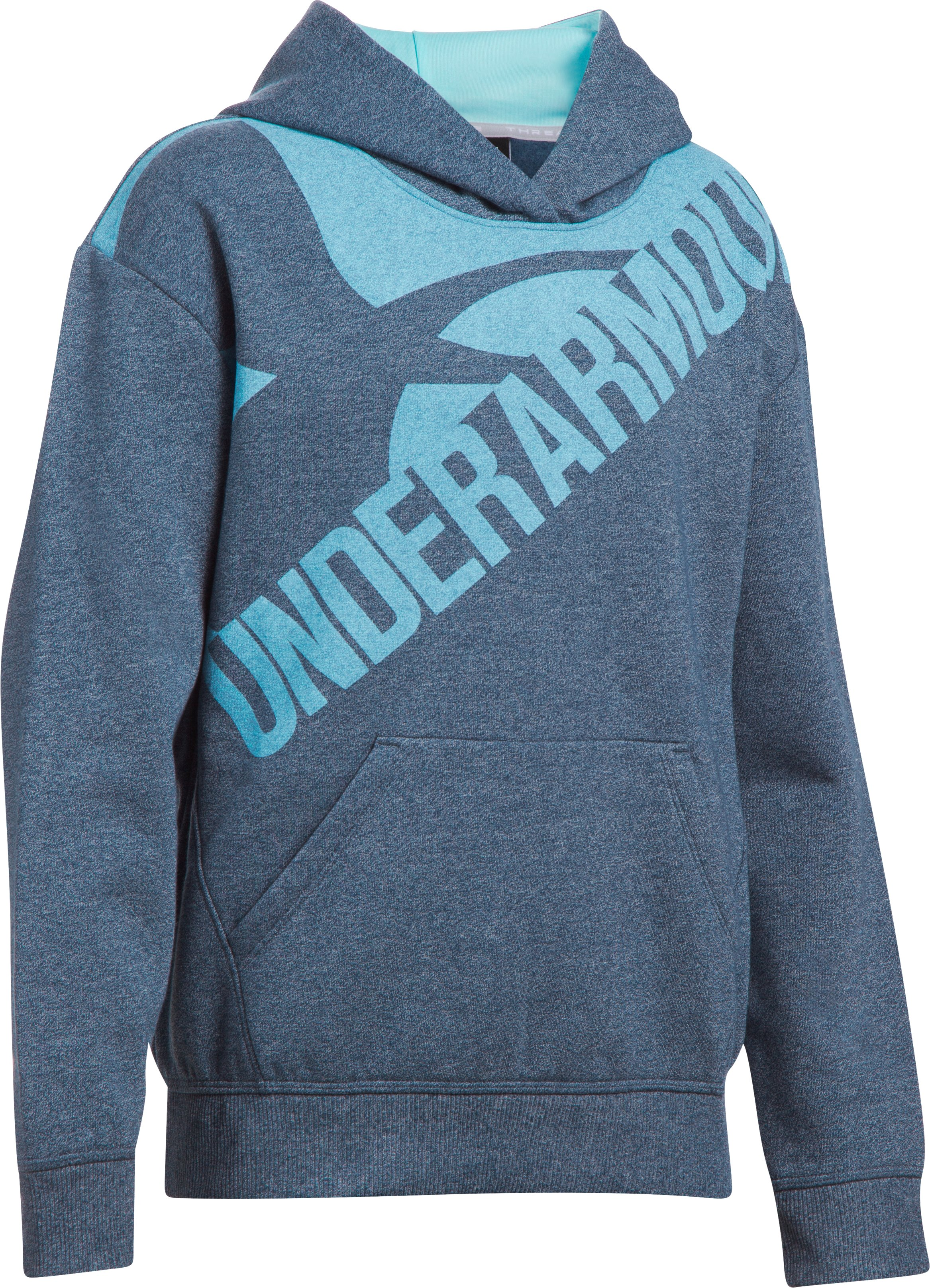 Girls' UA Threadborne™ Printed Fleece Hoodie, TRUE INK, undefined