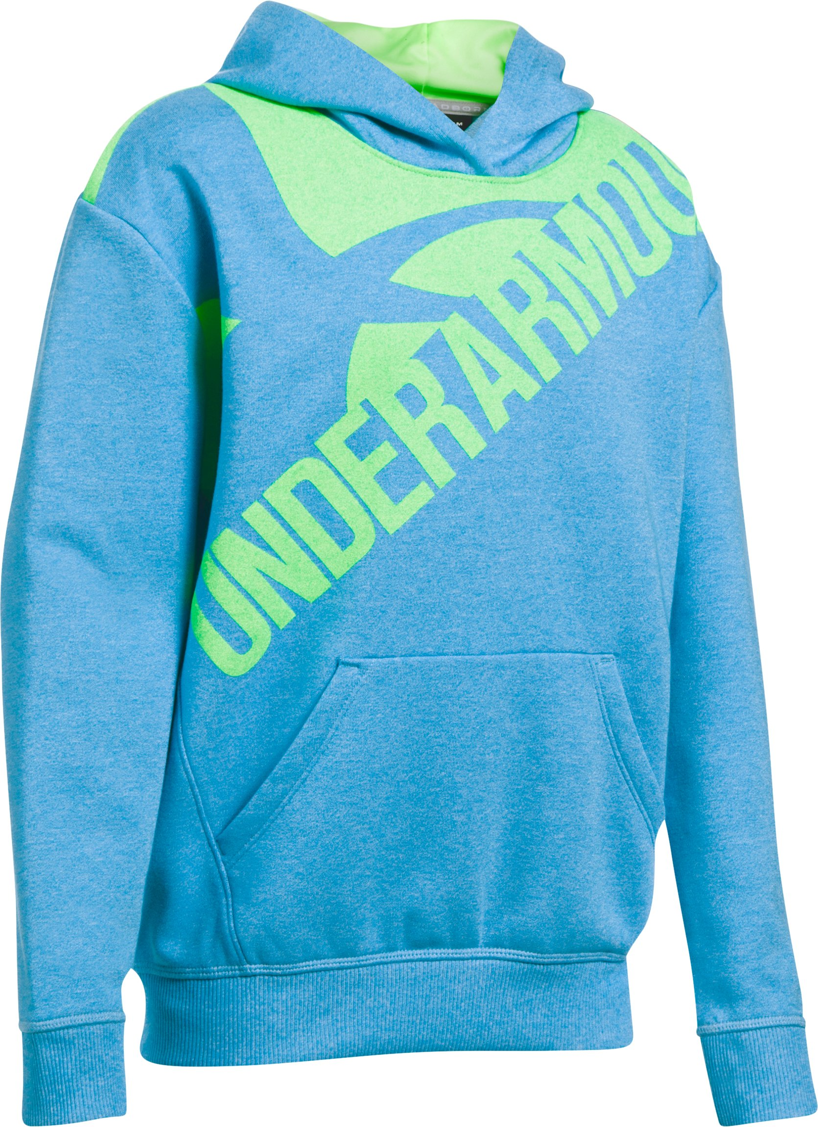 Girls' UA Threadborne™ Printed Fleece Hoodie, BLUE SHIFT, undefined