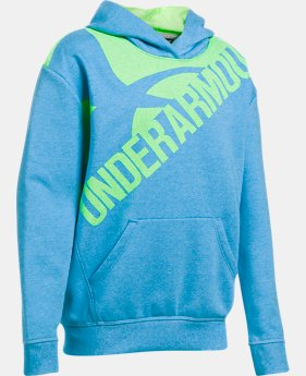 New to Outlet Girls' UA Threadborne™ Printed Fleece Hoodie LIMITED TIME OFFER 1 Color $31.49